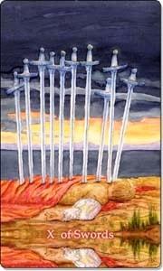 Ten of Swords - Reverse